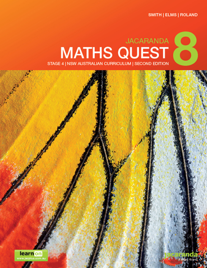 Jacaranda Maths Quest 8 Stage 4 NSW Australian curriculum 2e learnON & print
