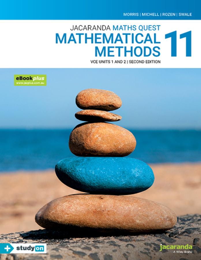 Jacaranda Maths Quest 11 Mathematical Methods VCE Units 1&2 2e eBookPLUS & Print + StudyON VCE Mathematical Methods Units 1&2 (Book Code)