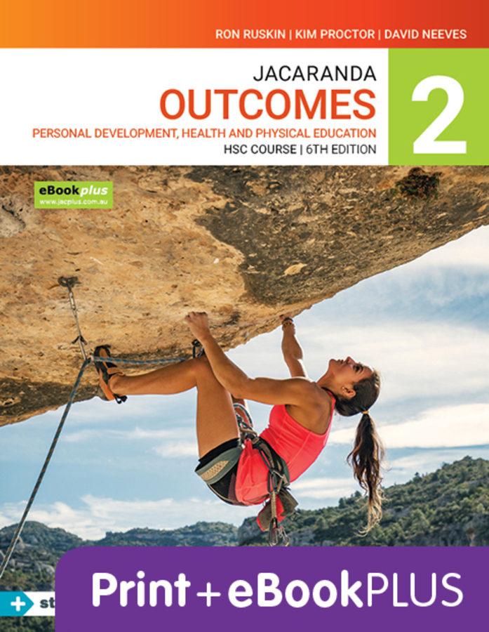 Jacaranda Outcomes 2 Personal Development, Health and Physical Education HSC 6e eBookPLUS & Print + StudyON HSC PDHPE 2e (Book Code)