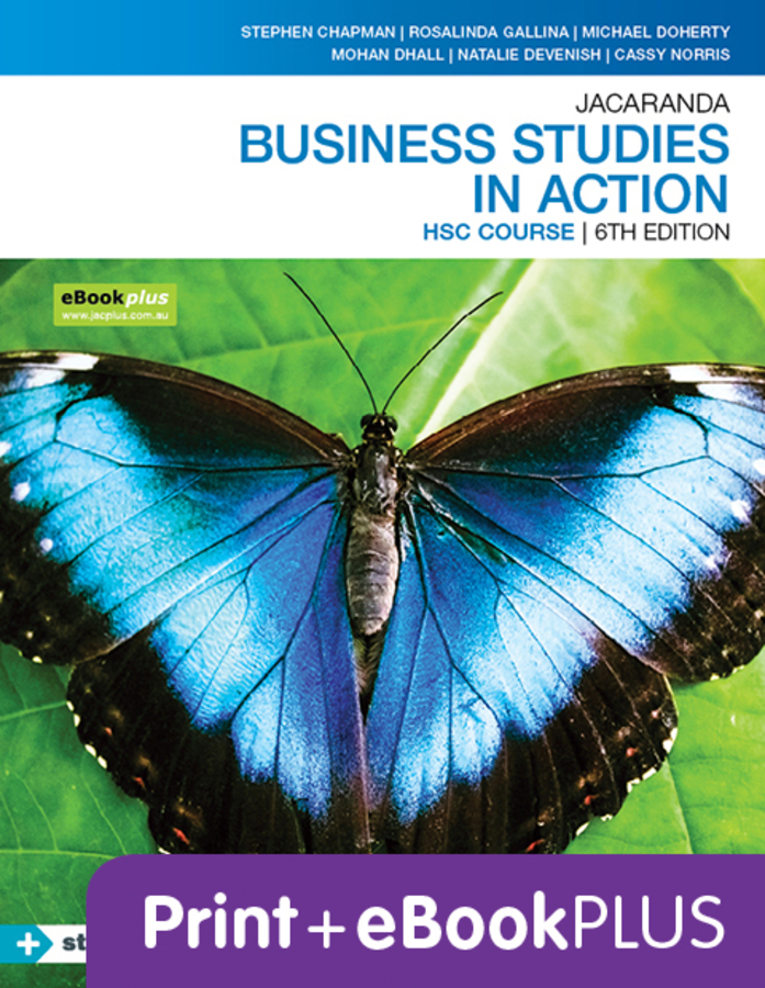 Jacaranda Business Studies in Action HSC 6e eBookPLUS & Print + StudyON HSC Business Studies 2e (Book Code)