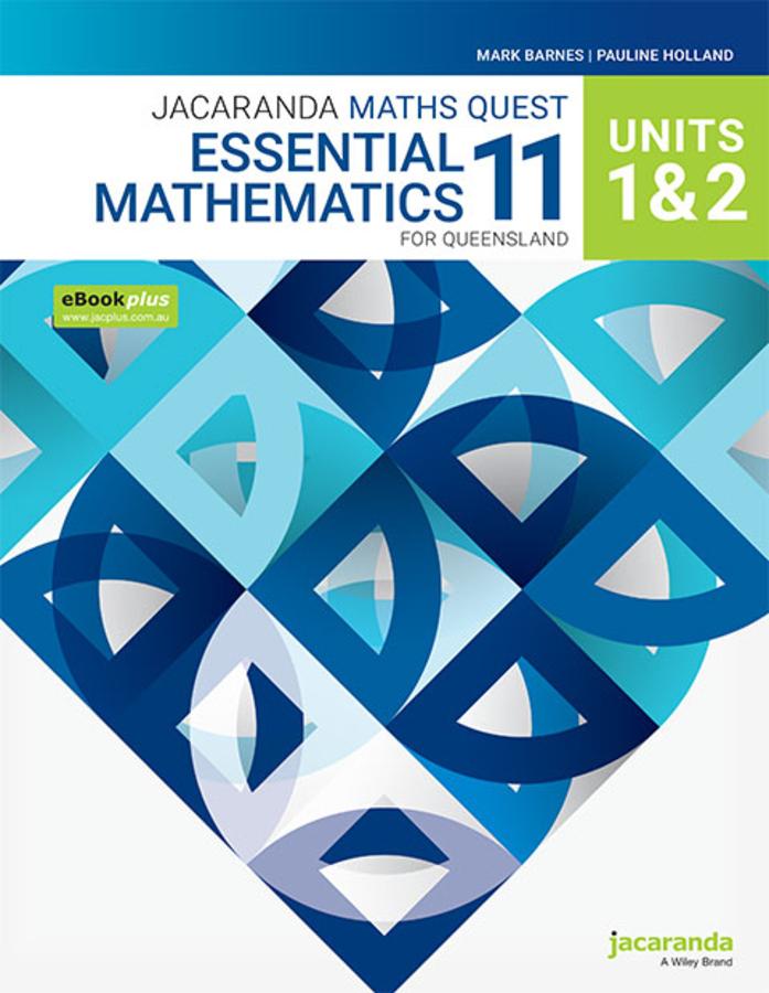 Jacaranda Maths Quest 11 Essential Mathematics Units 1&2 for Queensland eBookPLUS and Print