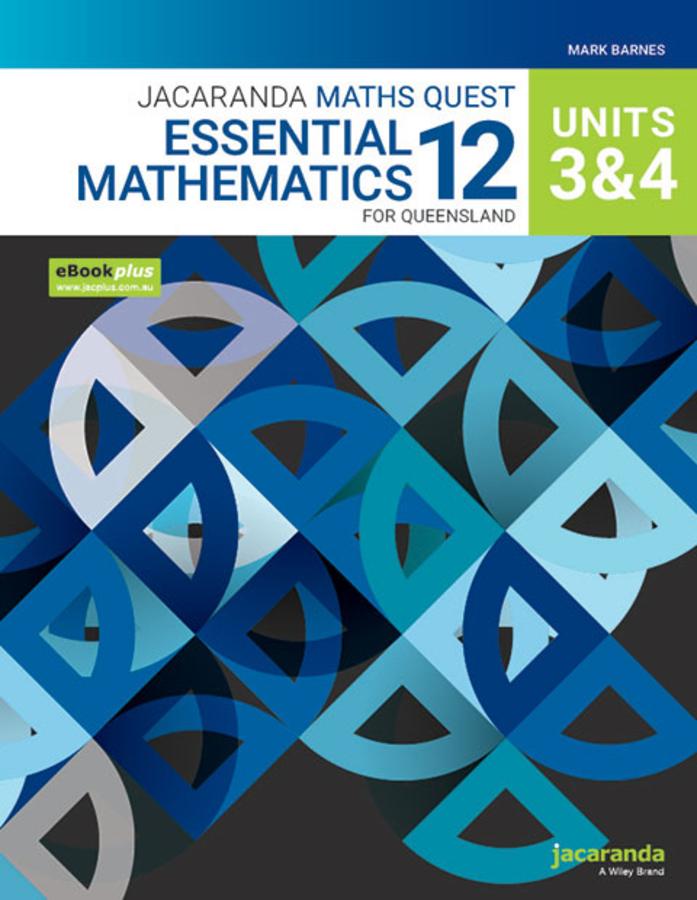 Jacaranda Maths Quest 12 Essential Mathematics Units 3&4 for Queensland eBookPLUS and Print